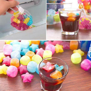 Ice-Cubes-Mold Small Reusable Summer Home Party 20pcs Cold-Drink-Tools Multicolour