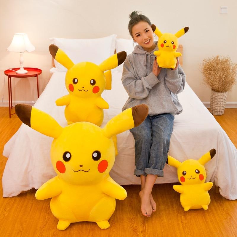 55CM Pokemon Pikachu Plush Doll Pillow Toys Takara Tomy  Animal Plush Stuffed Doll Toys Action Figure Model  Kids Birthday Gifts