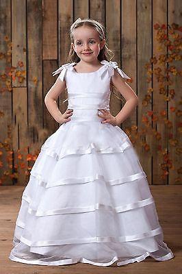 Free Shipping 2016 New Hot Custom Tenis Infantil Handmade Ball Gown Fashion Plus Size White/ivory Flower Girl Dresses