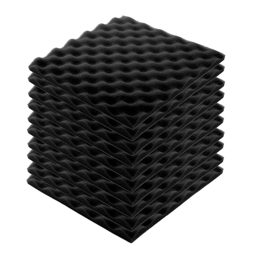 Recording Studio Soundproof Wedge Foam Video Room Sound Noise Insulation Sponge Wall Deadening