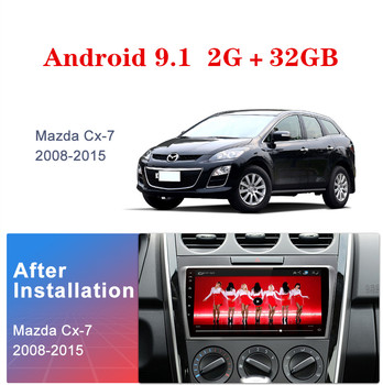 2DIN 9 Android 9.0 Car GPS Navigation Radio Multimedia Player For 2008 2009 2010 2011 20122013 2014 2015 MAZDA CX-7 cx7 cx 7 image
