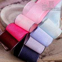 100yards 10 16 25 38mm colorful satin edge tree texture organza sheer ribbon for korean hair bow accessories handcraft supplies