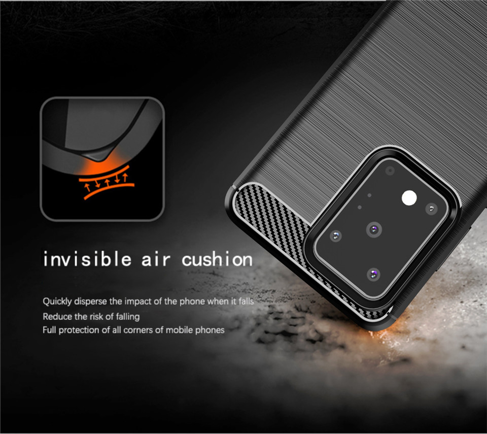 For Samsung Galaxy S20 Plus Case Silicone Rugged Armor Soft Cover Case For Samsung S20 Ultra S 20 5G Phone Fundas Coque Case