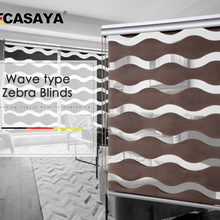 Волновой тип высокое качество Зебра жалюзи 50%~ 90% затенение скорость двойной слой Мода День Ночь жалюзи для гостиной