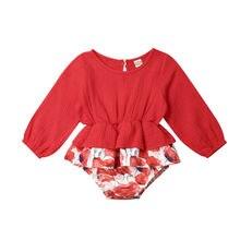 Bodysuit New Kids Baby Girl Clothes Lace Floral Long Sleeve Babygrow Playsuit Jumpsuit Sunsuit Outfits