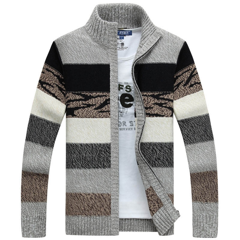 Men's Knitted Cardigans Sweaters Winter Male Wool Sweater Slim Fit Zipper Sweaters Coat For Men Top Quality Brand Men's Clothing