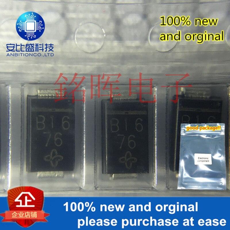 10pcs 100% New And Orgianl B160-E3/5AT Silk-screen B16 SMA DO-214AC 60V 1A In Stock