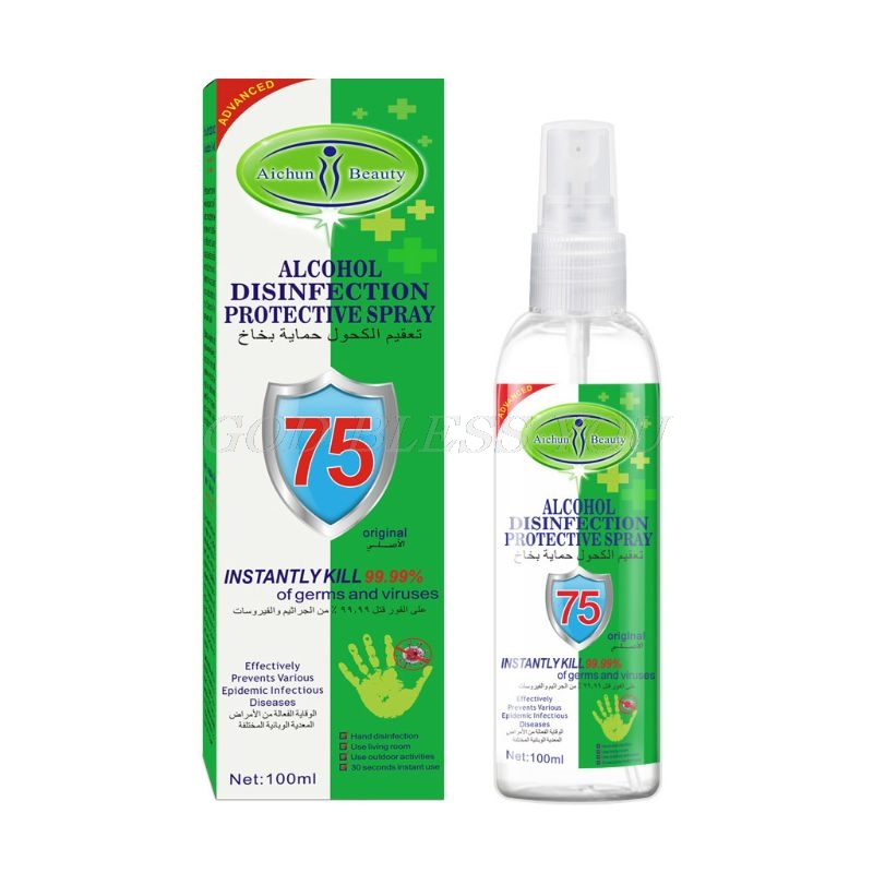 100ml 75%Alcohol Disposable Instant Hand Sanitizer Spray Portable Disinfectant
