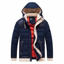 Männer Winter Casual Warme Dicke Fleece Hut Jacke Parkas Männer Neue Herrenmode Luxus Taschen Outfit Hauben Zipper Parka Mantel Jacke männer