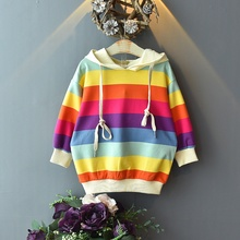 Baby Hot Sale Girl Fashion Cute Outerwear Colorful Striped P