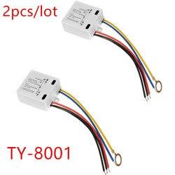 Сенсорный выключатель, 2 шт./лот, 50-60 Гц, светодиодный выключатель, аксессуары для самостоятельной сборки, черный/синий/красный/желтый, 120 В до...