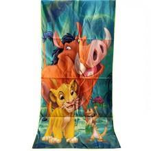 Simba król lew Nala 100 poliester ręcznik kąpielowy dla dzieci chłopcy dziewczęta 70x140cm tanie tanio Disney Prostokąt Anime 300g Cartoon Gładkie barwione T20190818-a6 15 s-20 s Można prać w pralce Tkane