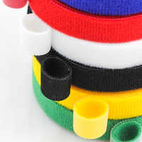 5Meters Reusable Velcros Adhesive Fastener Tape Strong Hooks and Loops Cable Ties Curtain Nylon Fastener