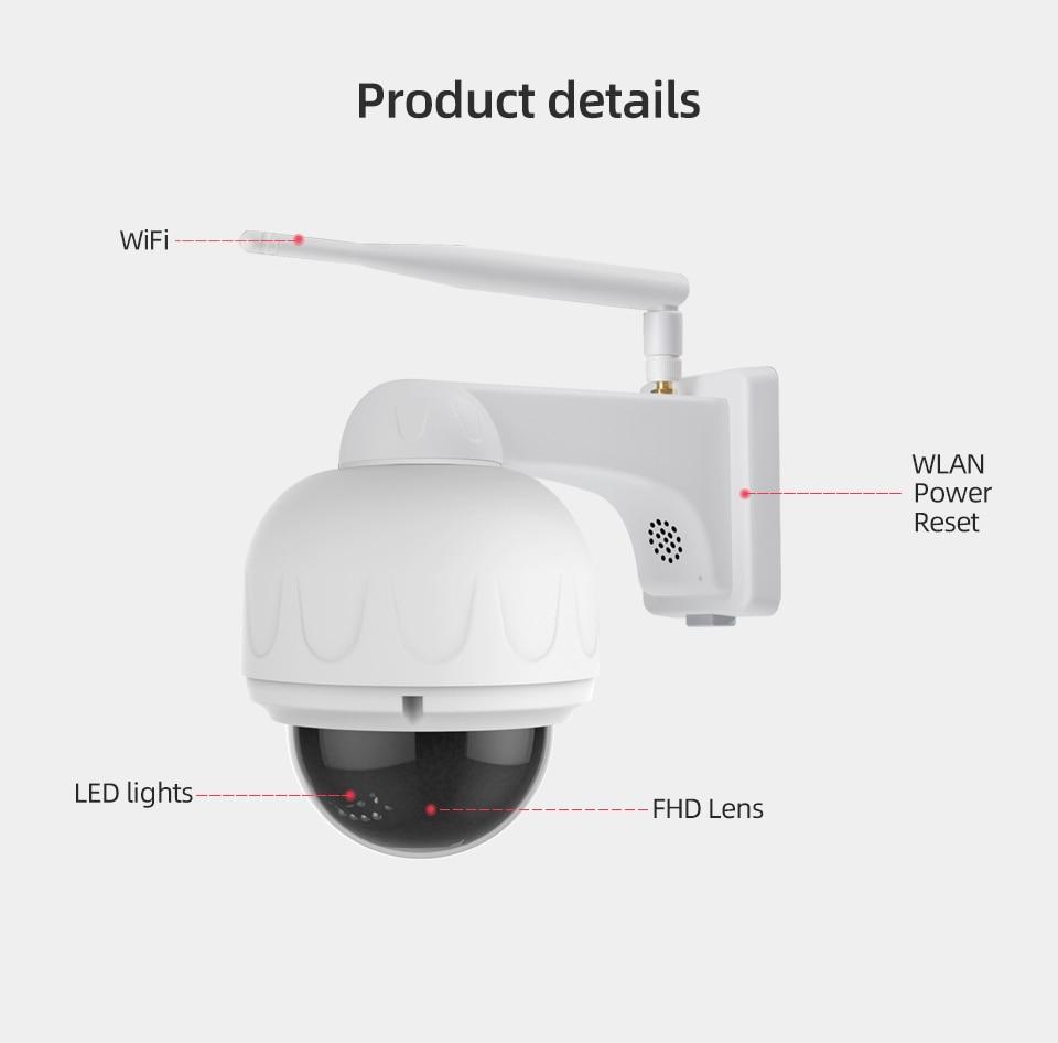 1080P IP Camera 4X Zoom IP66 Waterproof Outdoor Wifi Camera Auto Focus PTZ CCTV Security Camera IR Night Vision