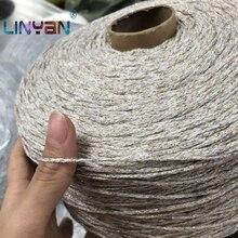 500 g/lote fio para tricô & crocheting matethreads diy fios crochê cor brilhante fio de seda metalizado mão tricô zl50