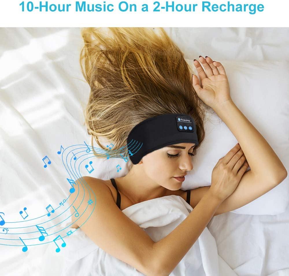 Bluetooth dormir fones de ouvido esportes bandana fina macia elástica confortável música sem fio máscara para o lado do sono 3