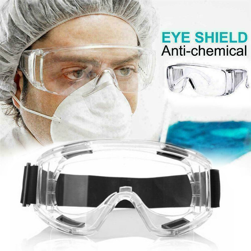 2020 Medical Clear Protective Safety Glasses Eye Protection Anti-fog Work Lab Goggles