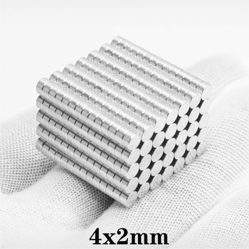100~2500pcs 4x2 Rare Earth Magnets Diameter 4x2mm Small Round Magnets 4mm*2mm Permanent Neodymium Magnets 4*2 strong magnet disc