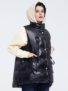 Astrid 2020 весна осень Женская парка без рукавов теплая куртка женская тонкая хлопковая свободная черная хлопковая жилетка с капюшоном ZR-7219