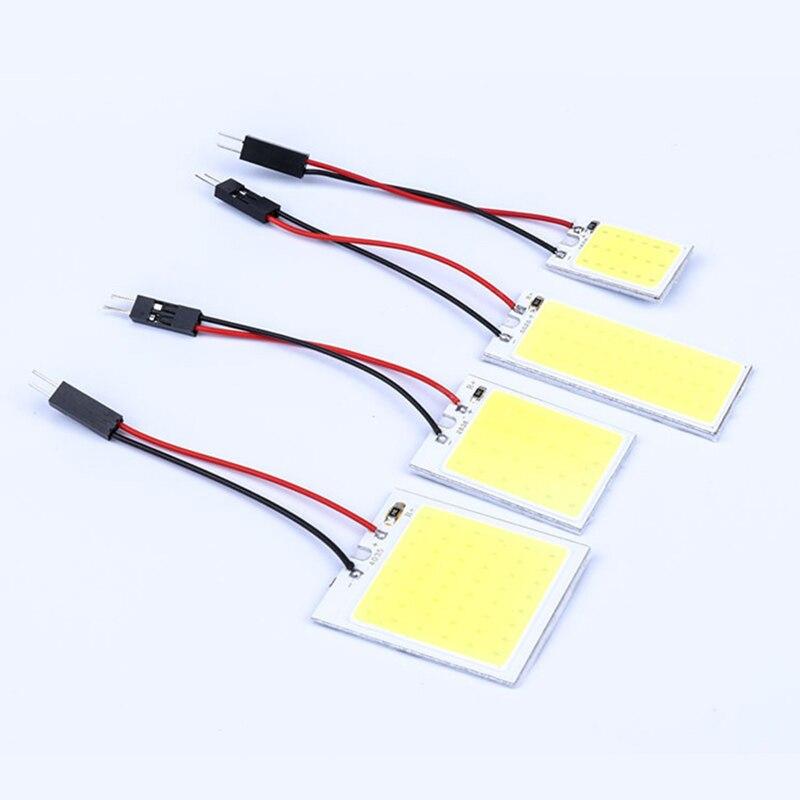 Авто светодиодный дома светильник COB Панель округлая панель с лампочками T10 двойной клейкие у основания, 18-24 36 48 светильник светодиодный пот...