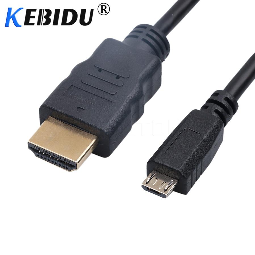 Kebidu Универсальный 5PIN Micro USB к HDMI кабель для Samsung Galaxy Note 3 S2 S3 S4 S5 1080P HDTV адаптер для HTC Оптовая Продажа 1,5 м