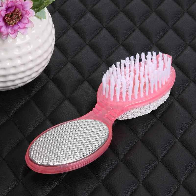 4 em 1 pé cuidado calo escova pomes purificador pedicure exfoliate removedor