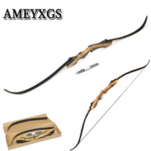 1pcs 30-60lbs 62inch Recurve Bow  Wood Bow  For Profession Novice Outdoor Hunting Shooting Motion