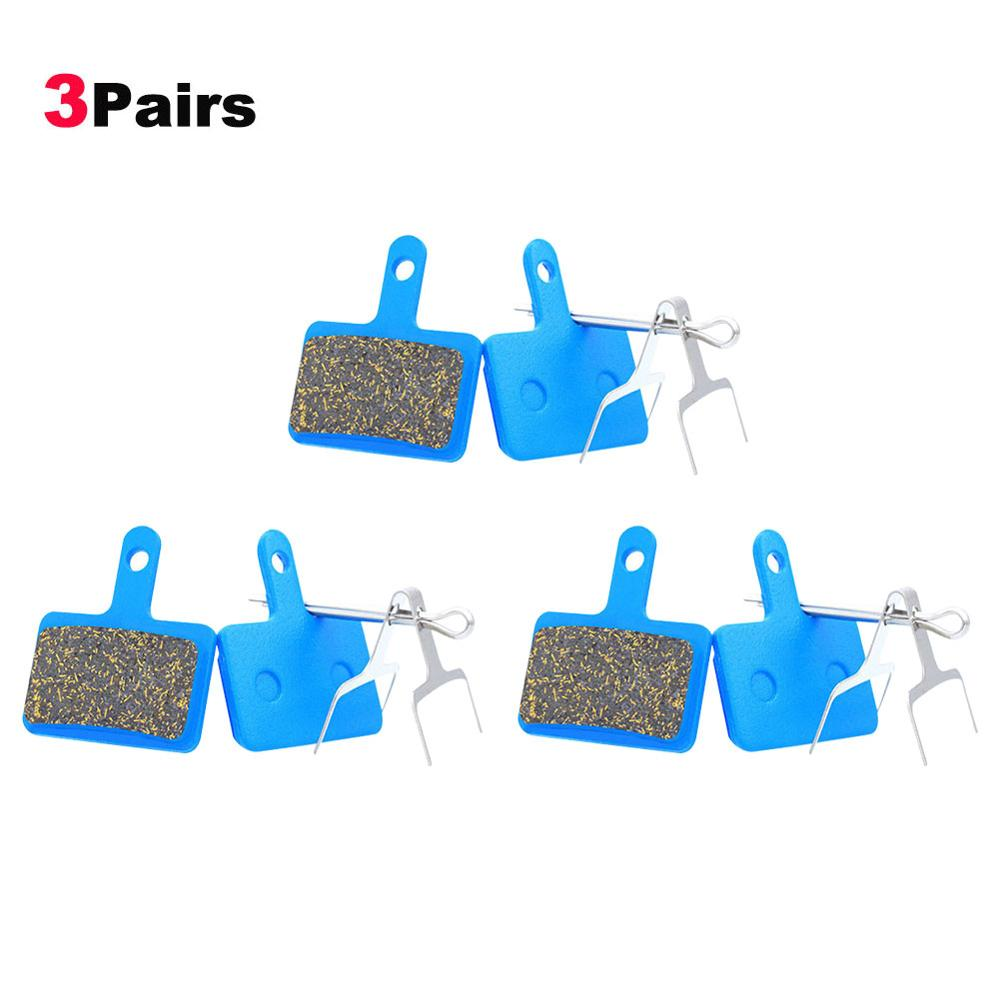 3 Pairs MTB Mountain Bike Brake Pads Multi-metal Brake Lining Cycling Resin Organic Disc Road Brake Pads For <font><b>Shimano</b></font> M445 <font><b>355</b></font> image
