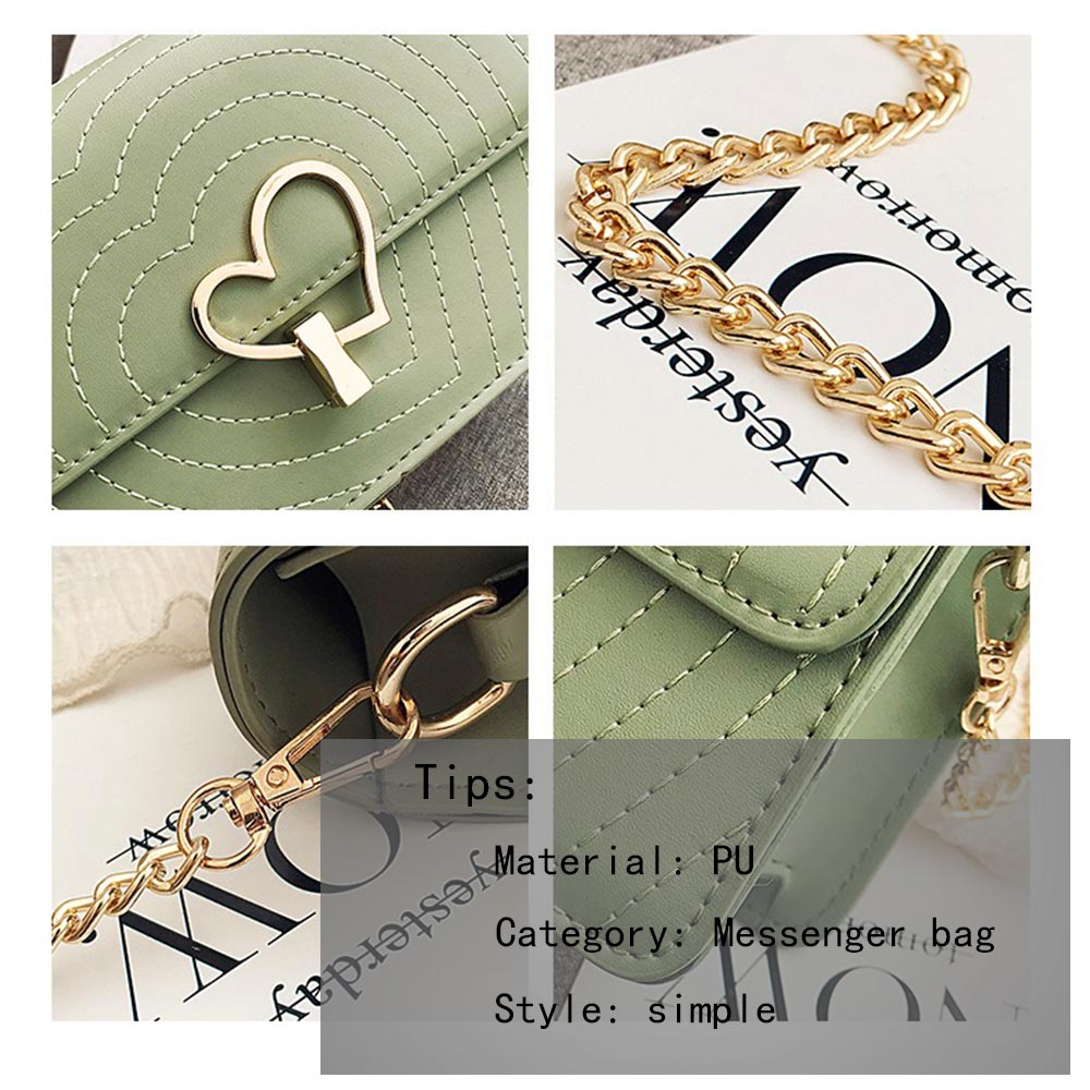 ISXTW Woman Bag 2019 Trend Diamond Lattice Crossbody Bag Fashion Chain Red Heart shaped Metal Buckle Small Fresh Package A20 in Top Handle Bags from Luggage Bags