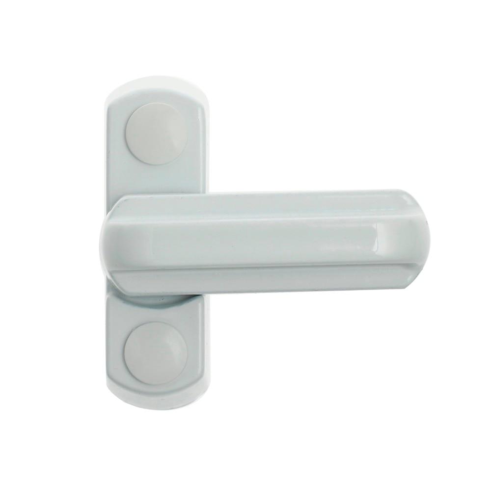 8pcs UPVC Window Safety Locks Door Sash Jammer Security Restrictor Lock White