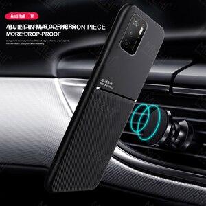 Image 2 - حافظة ممغنطة للسيارة لهواتف شاومي بوكو m3 برو 5G حافظة جلدية الملمس سيليكون غطاء مقاوم للصدمات لبوكوفون m3 متر 3 برو كوك