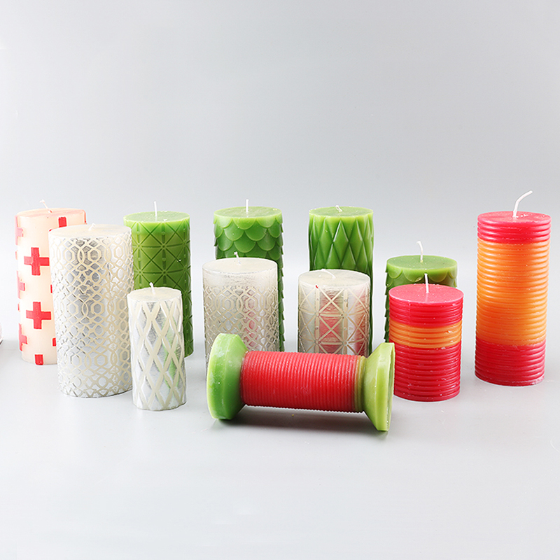 Multi Shape DIY Handmade Candle Mold Squama Diamond Cross Shape Cylindrical Candle Moulds Diy Candle Molds Lz15