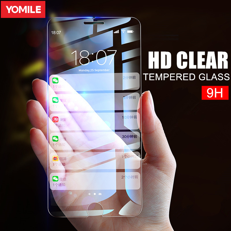Tempered Glass For iPhone 6 S 6S 7 8 Plus X XR XS MAX 5 5S SE XS iPhone8 iPhoneX Tempered Screen Protector Glass Protection Film(China)
