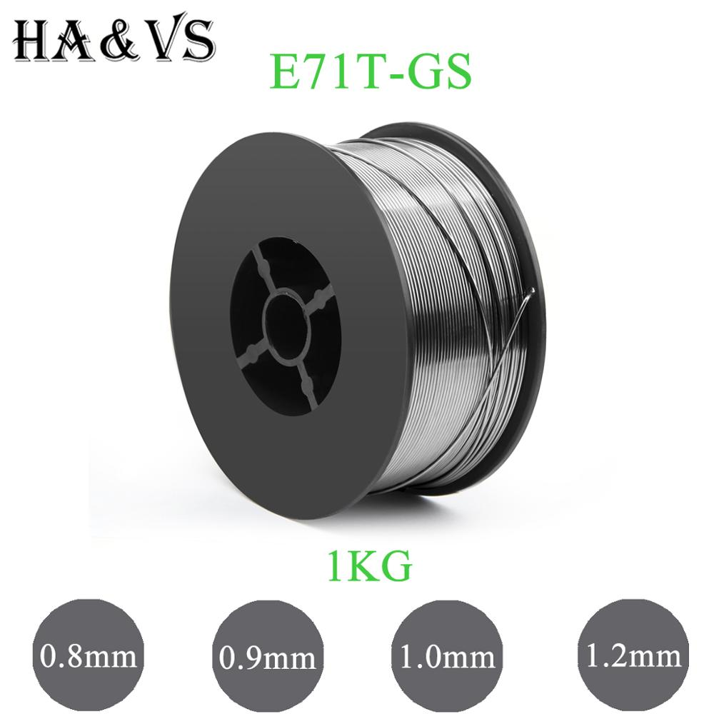 1KG 2.2LBS MIG E71T-GS Gasless Flux Cored Welding Wire 0.8 0.9 1.0 1.2mm AWS A5.20/ASME SF A5.20 For MIG Welder Tool