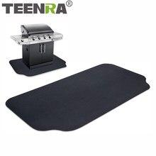 Teenra antiaderente churrasqueira esteira à prova de fogo resistente ao calor do churrasco anti-óleo proteção ambiental reutilizável ferramenta de churrasco ao ar livre