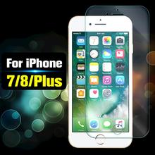 Verre de protection sur le pour apple iPhone 7 8plus film de protection décran 7plus 8plus feuille blindée verre tremp trempé 7p 8 p