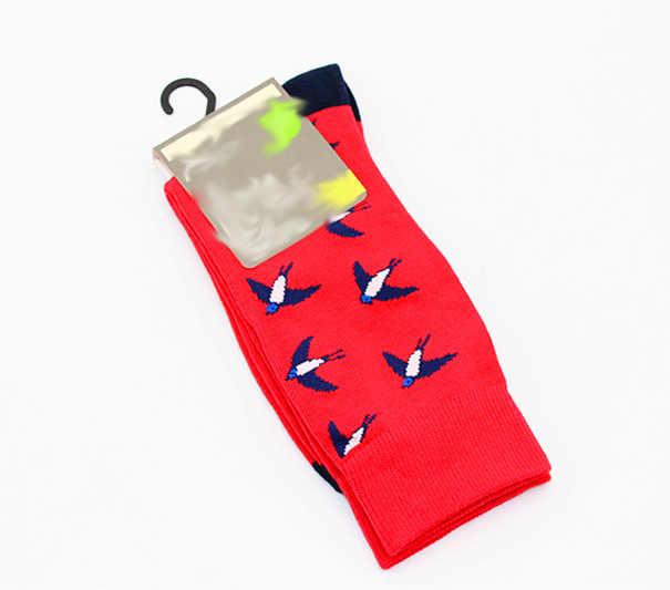 새로운 남성 양말 브랜드 선인장 팬더 원숭이 패턴 힙합 남자를위한 멋진 양말 겨울 두꺼운 롱 스케이트 재미 있은 양말 다채로운
