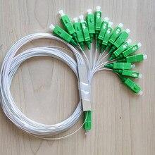 10 قطعة/الوحدة 0.9 مللي متر الصلب أنبوب الألياف البصرية PLC الفاصل 1x16 SC/APC البسيطة Blockless FTTH SM 1*16 SC APC موصل PLC الفاصل