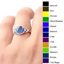 Vintage retro cor mudança humor tracker anel emoção sentimento mutável controle de temperatura anéis para mulher