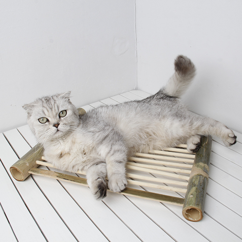 Ji Zekee Pet Nest Bamboo Coaster Summer Bamboo And Wood Products Toy Hammock Heat Dissipation Cold Cat Hanging DIY Nest