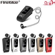 Fineblue f920 motorista auriculares sem fio bluetooth tipo telescópico fone de ouvido de negócios chamadas lembrar vibração usar clipe esportes um