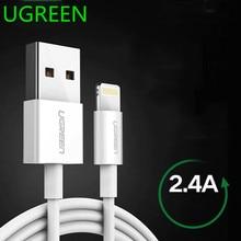 Ugreen MFi Câble USB pour iPhone 11 X Xs Max 2.4A 충전 충전기 USB 충전기 iPhone 8 7 6Plus USB Co
