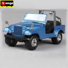 цена на Bburago 1:24 Willis JEEP Jeep Wrangler alloy car model simulation car decoration collection gift toy