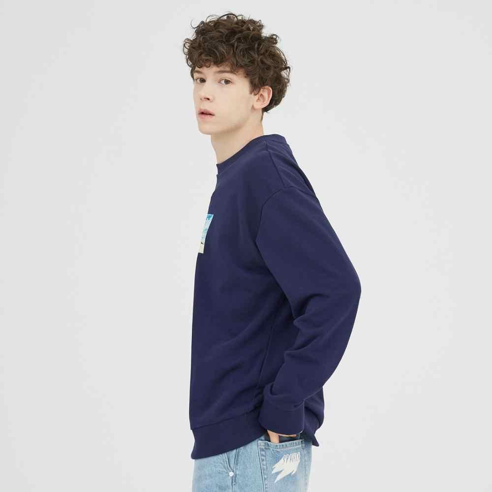 Metersbonwe 2020 Nieuwe Lente Sweatshirt Mannen Knappe Losse Afdrukken Sweatshirt Mode Mannen Skateboard Sweatshirts