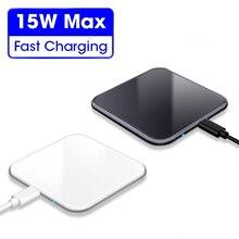 Беспроводное зарядное устройство 15 Вт для iphone 12 Pro, быстрое зарядное устройство USB QC 3,0, зарядная станция для телефона, док станция для Samsung S10, Xiaomi, быстрая зарядка