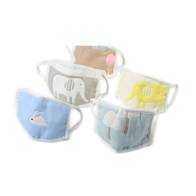 Reusable Children Mask with 10 Filters Kids Mouth Mask Anti-Fog Haze Dust Pm 2.5 Face Mask Breathable Layer Kids Mask 5