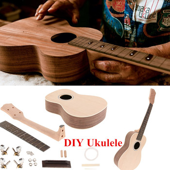 23 Inch Rosewood / Sapele Hawaii Guitar Ukulele Uke DIY Assembly Kit Toy Gift for Children Guitar Luthier Making