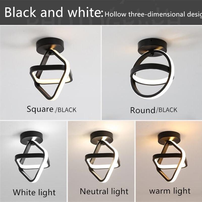 Купить светодиодная потолочная лампа для коридора гостиной дома черная