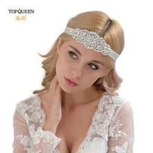 Роскошный свадебный головной убор topqueen h76 с лентой свадебная