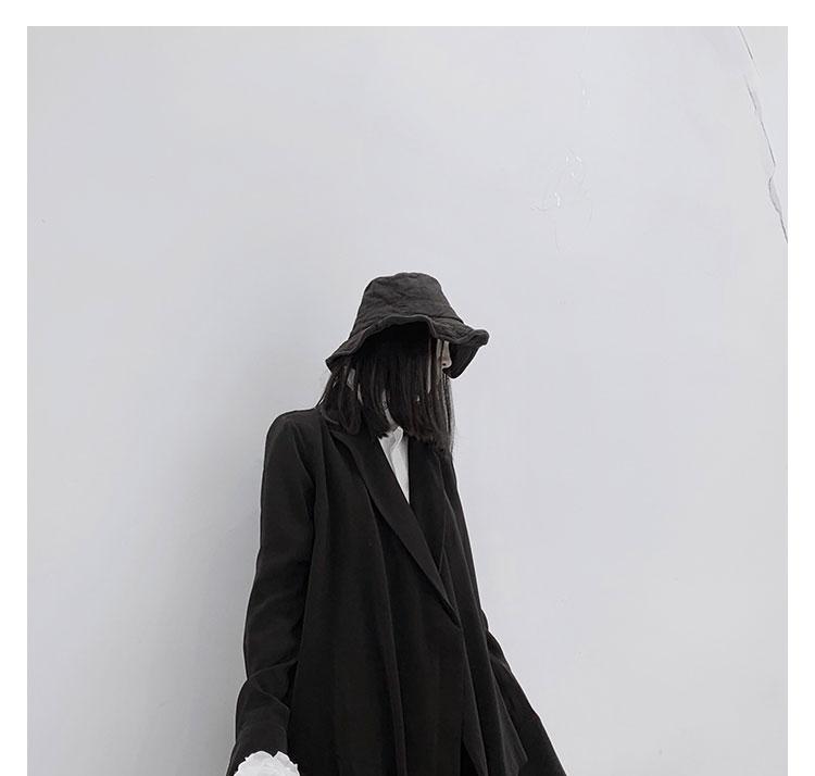 New Fashion Style Long Sleeve Black White One Button Jacket Fashion Nova Clothing